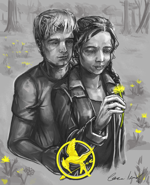 Katniss/Peeta Drawing - Dandelion