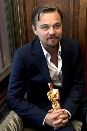 Leo holding Oscar