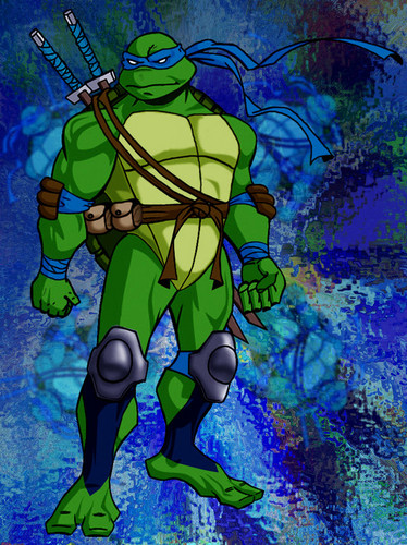 TMNT Leonardo achtergrond with anime entitled Leonardo