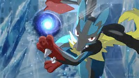 Lucario, use Aura Sphere!