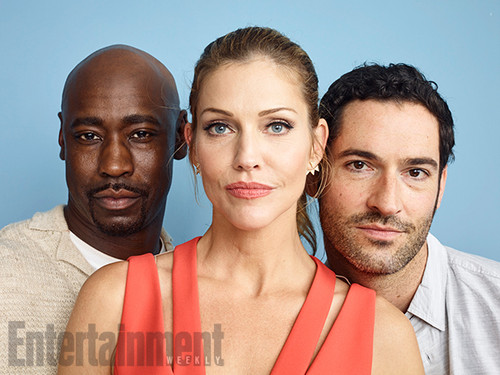 Lucifer (Fox) Обои possibly containing a portrait entitled Lucifer Cast @ Comic-Con 2016