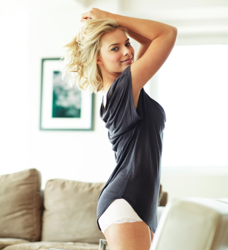 Margot Robbie kertas dinding probably containing a leotard and tights entitled Margot Robbie - Me In My Place Photoshoot - 2012