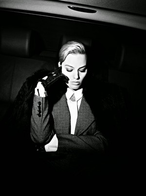 Margot Robbie - фиолетовый Grey Photoshoot - February 2014