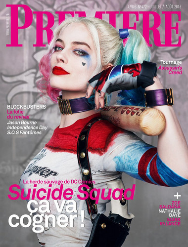Suicide Squad 바탕화면 called Margot Robbie as Harley Quinn - Premiere Magazine Cover - July/August 2016