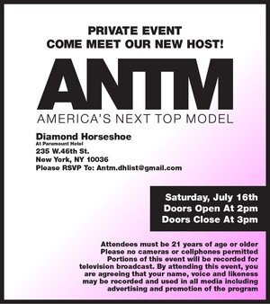 Meet the new ANTM host - event invitation