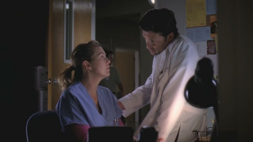 Grey's Anatomy Couples karatasi la kupamba ukuta entitled Meredith and Derek 325