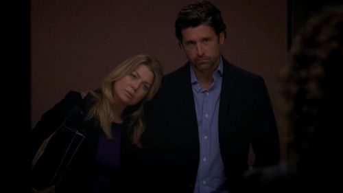 Grey's Anatomy Couples वॉलपेपर with a business suit, a suit, and a well dressed person entitled Meredith and Derek 332