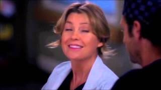 Grey's Anatomy Couples karatasi la kupamba ukuta with a portrait entitled Meredith and Derek 338