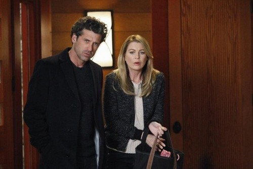Grey's Anatomy Couples वॉलपेपर with a business suit entitled Meredith and Derek 344
