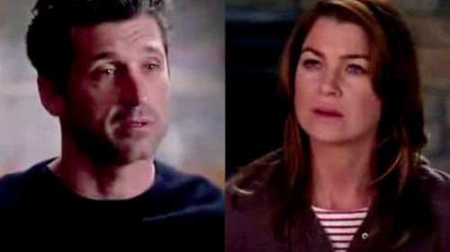 Grey's Anatomy Couples پیپر وال with a portrait entitled Meredith and Derek 347