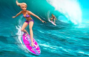 Merliah Surfing