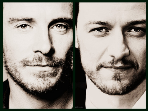 James McAvoy and Michael Fassbender wallpaper possibly with a holding cell entitled Michael/James ☆