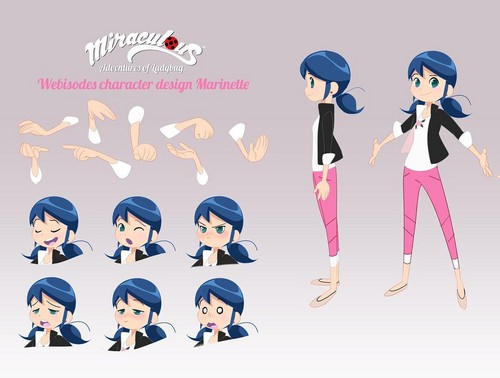 Miraculous Ladybug Hintergrund entitled Miraculous Ladybug - Webisodes Character Model Sheet - Marinette