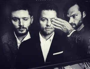Misha, Jensen and Jared shoot