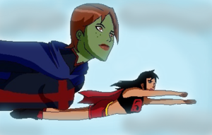 Miss Martian and Supergirl