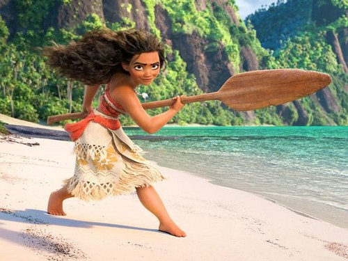Disney's Moana Hintergrund probably with a dugout kanu entitled Moana