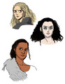 Morgause, Morgana, and Gwen  - merlin-on-bbc fan art