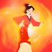 Mulan fire icon  - disney-princess icon