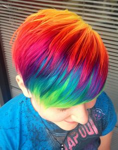 Hair Images Multi Colored Wallpaper And Background Photos