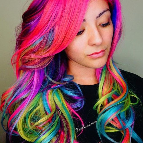 Hair Wallpaper Led Multi Colored
