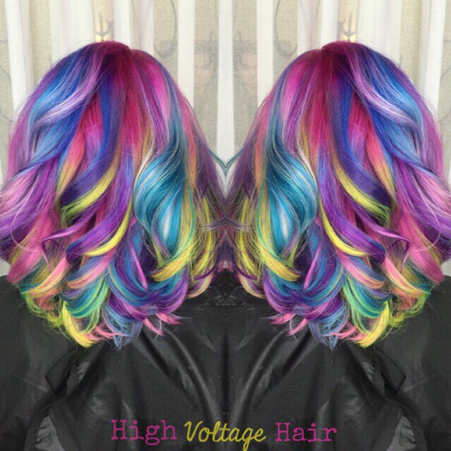Hair Обои Enled Multi Colored