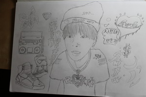 Min Yoongi~My drawing 💋 ❤💰 🍣
