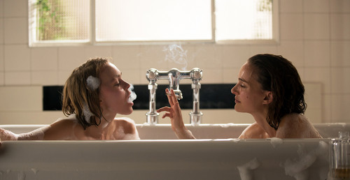 Natalie Portman karatasi la kupamba ukuta with a hot tub and a bathtub titled New 'Planetarium' Stills