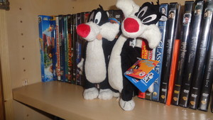New and old Sylvester beanie plush from my collection