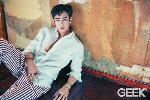 NichKhun hình nền containing a well dressed person entitled Nichkhun in 'Geek'