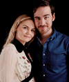 OUAT co stars,Colin O'Donoghue and Jennifer Morrison,Comic Con 2016 - hottest-actors photo