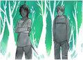 Peeta/Katniss Drawing - Distance - peeta-mellark-and-katniss-everdeen fan art