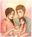 Peeta/Katniss Drawing - Epilogue - peeta-mellark-and-katniss-everdeen fan art
