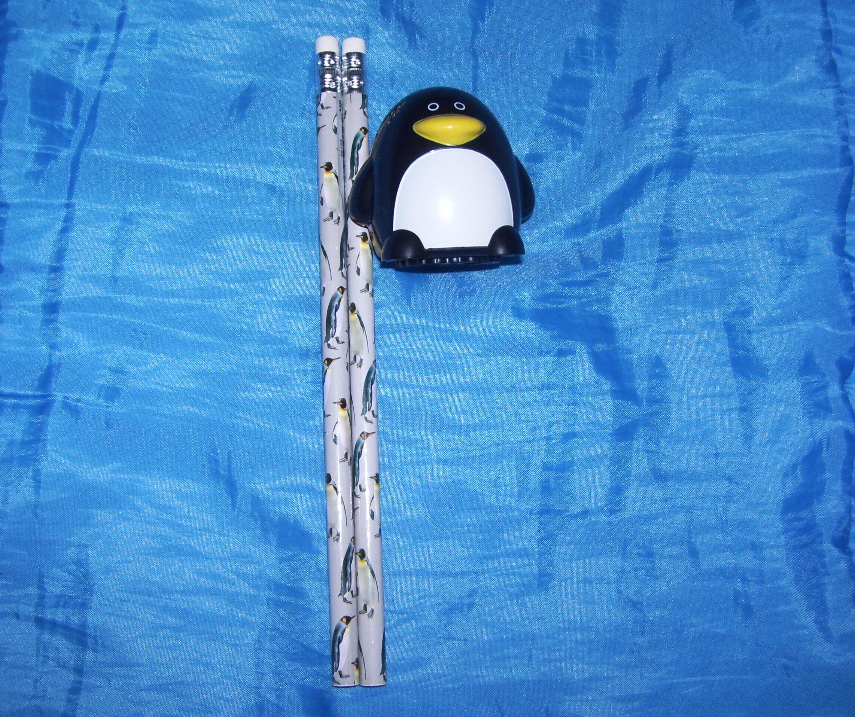 Penguin Pencils and Sharpener