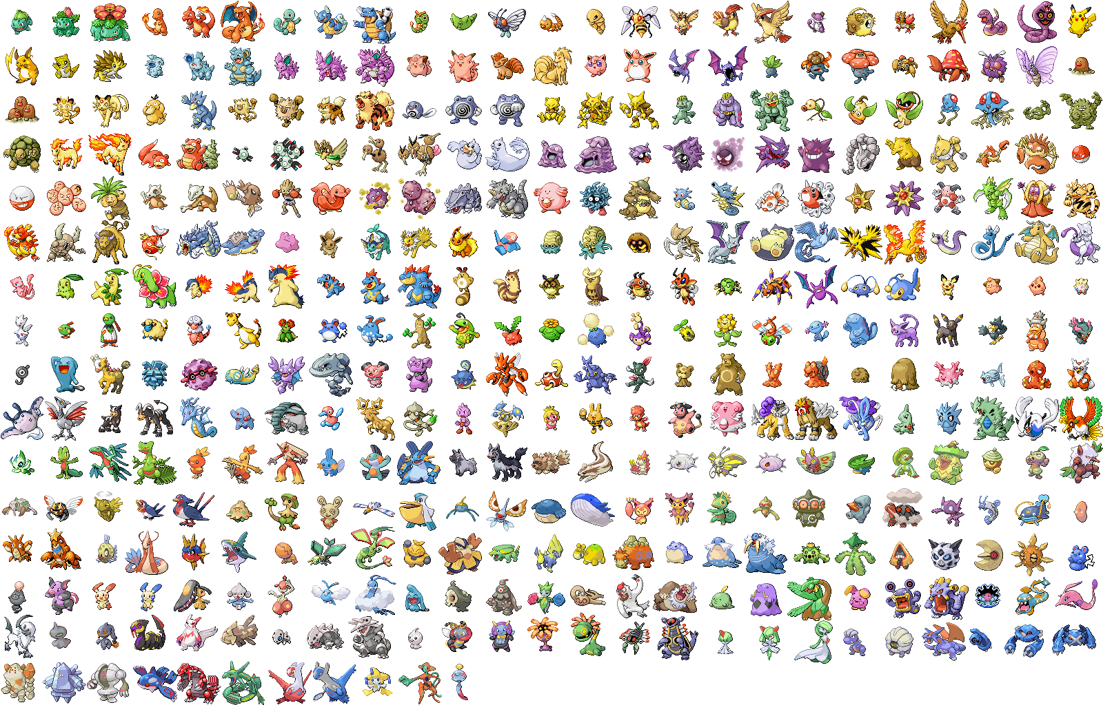 Pokemon Ruby And Sapphire Sprites