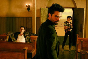 Preacher Jesse, Cassidy and tulp, tulip Season 1 promotional picture