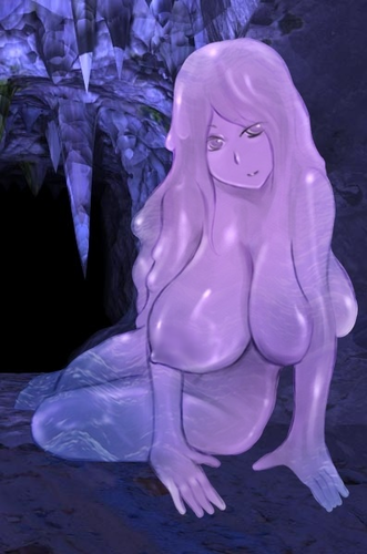Monster Girl Quest wolpeyper called Purple Slime