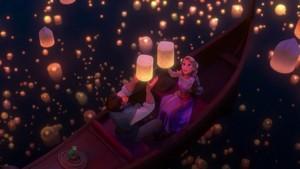 Rapunzel and Eugene Releasing Lanterns