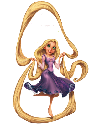 Rapunzel skipping hair