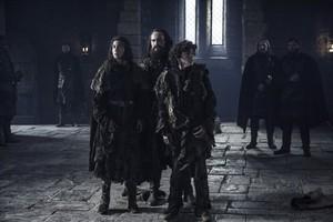 Rickon Stark, Osha and Smalljon Umber