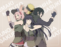 Sakura, Hinata, Naruto, and Sasuke // 火影忍者