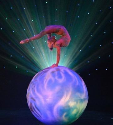 Contortion fondo de pantalla entitled Same contortionist performing on same ball