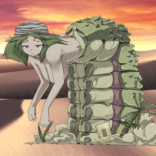 Monster Girl Quest پیپر وال with عملی حکمت entitled Sandworm