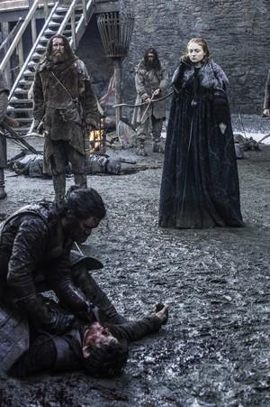 Sansa Stark, Jon Snow and Ramsay Bolton