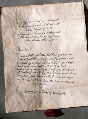Sansa's Letter to the Blackfish