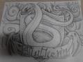 Slytherin Swirls - harry-potter fan art