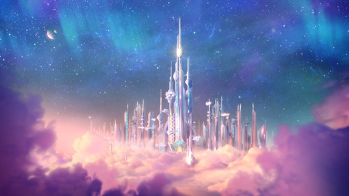 Barbie Movies wallpaper possibly with a refinery and a business district called Star Light Adventure Still - Castle