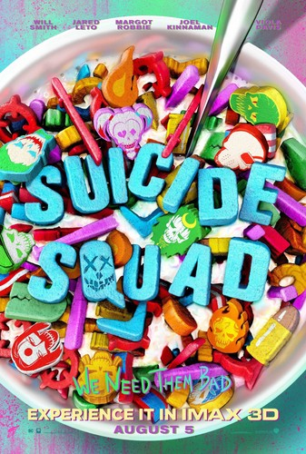 Suicide Squad wallpaper containing a gumdrop titled Suicide Squad - Cereal Killers - IMAX Poster