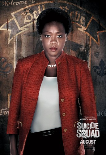 Suicide Squad wallpaper probably containing a casaco, casaco de lã called Suicide Squad Character Poster - Amanda Waller