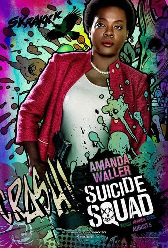Suicide Squad karatasi la kupamba ukuta with anime titled Suicide Squad Character Poster - Amanda Waller