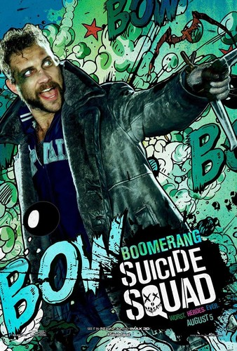 Suicide Squad wallpaper containing animê entitled Suicide Squad Character Poster - Boomerang